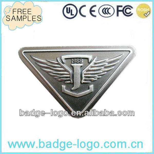 antiqe custom metal handbag logo plate