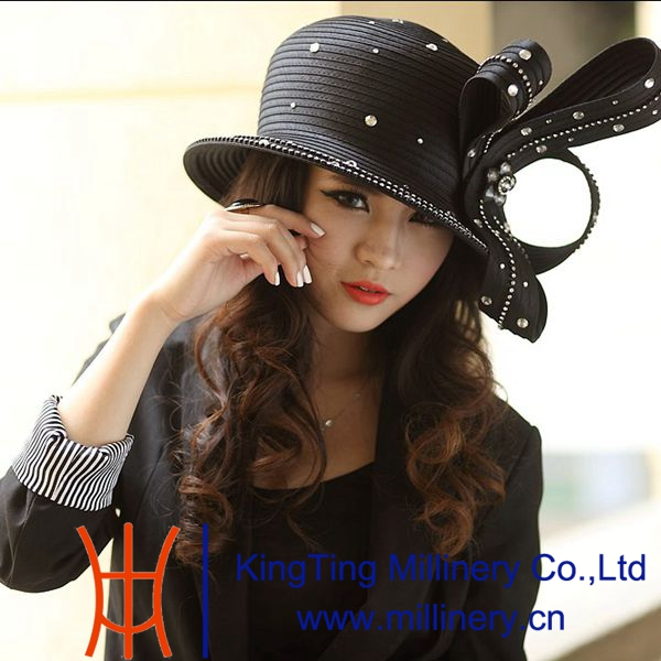 Church Suits Matching Elegant Church Hats Black and Cream