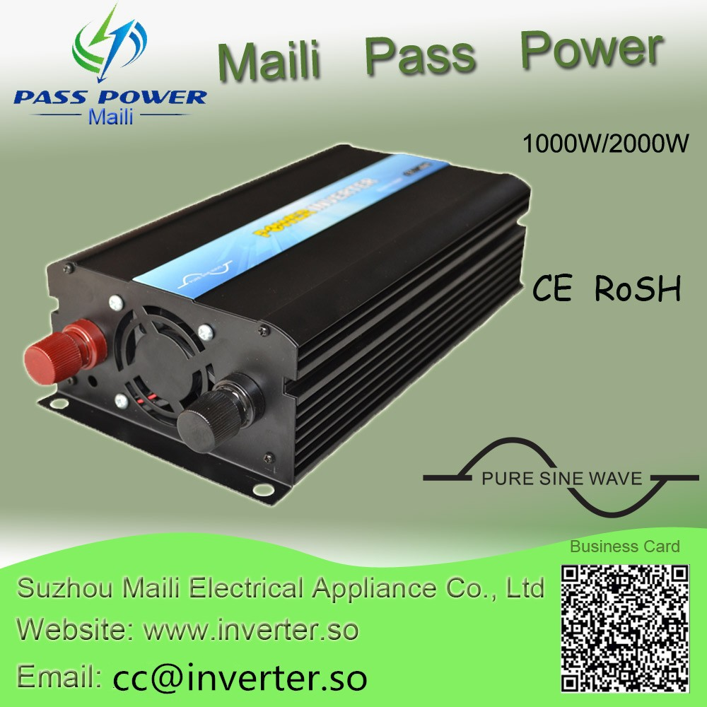 1000w Car Power Inverter dc to ac Inverter Pure Sine Wave 48v 110V or 230V Off Grid Converters