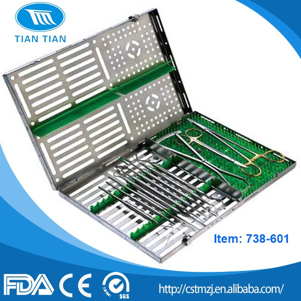 Dental Surgical Instrument of Sterilization Trays/Sterilization Container With Silicone pad