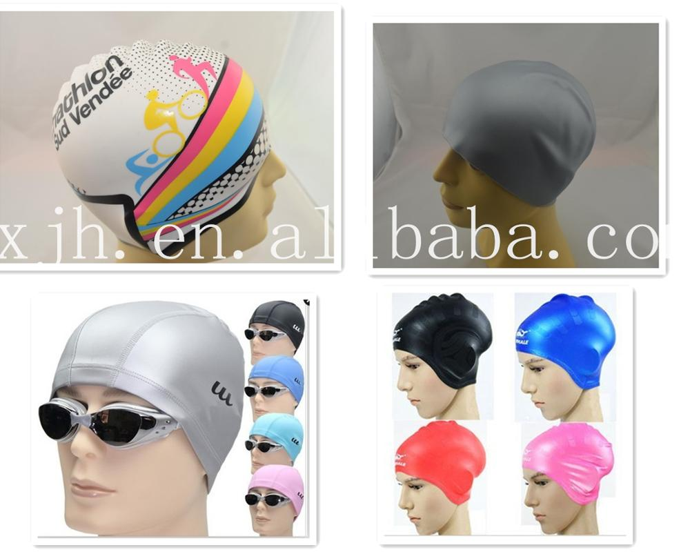 Cheap Custom Silicone Swim Cap With Logo
