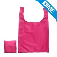 Suitable for girls to use the fashion of nylon folding shopping bags promotional bags