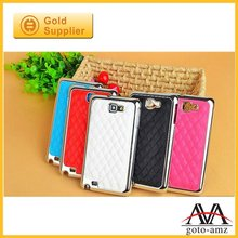 chrome frame leather case for samsung i9100