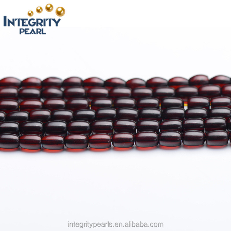 5*7mm tope quality natural red blood amber rice, amber prices, genuine amber
