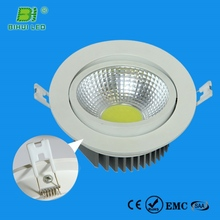 Ultra Slim Round Dimmable Recessed external driver 12w led downlight kit