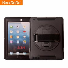 Top Quality 360 Degree Rotating hand strap case for ipad air 2