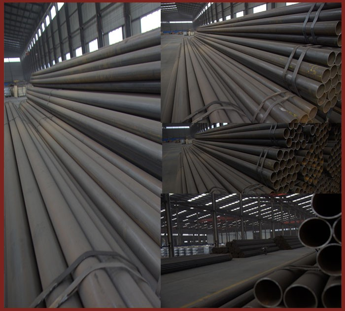 ASTM A106 GR.B black seamless carbon steel pipe for oil and gas