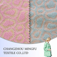 Pink colour/ green colour jacquard upholstery wool fabric, woolen fabric for coats