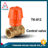 Yuhuan production flow control valve water heat/cool brass ball valves water flow control valve factory price