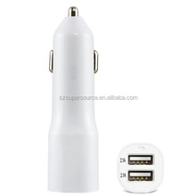 Wholesale Mobile Phone Fast 2 Ports USB Car Charger Adapter,5V/4.2A Black For Samsung Galaxy Note 5 Galaxy S6 S7
