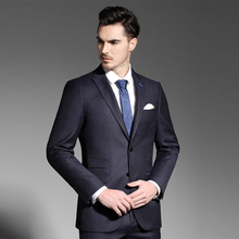 China garment factory 50% wool office uniform royal blue coat pant man business suit