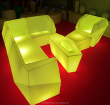 Assembling-type led event sofa furniture led ktv sofa for coffee shop