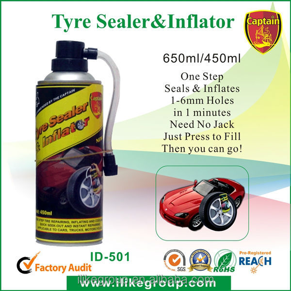 tyre repair materials tire inflator foam fix a flat