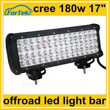 17 inch offroad quad row led light bar 180w for boats, yatch, heavy duty engineering machine