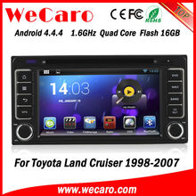 New Arrive WIFI 3G double din car dvd for toyota hilux 2004 GPS navigator TV Radio tuner CD Player