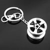 Mini metal piston box key ring chain, custom Automobile automotive auto Car wheel hub tyre Parts shaped keychain keyring