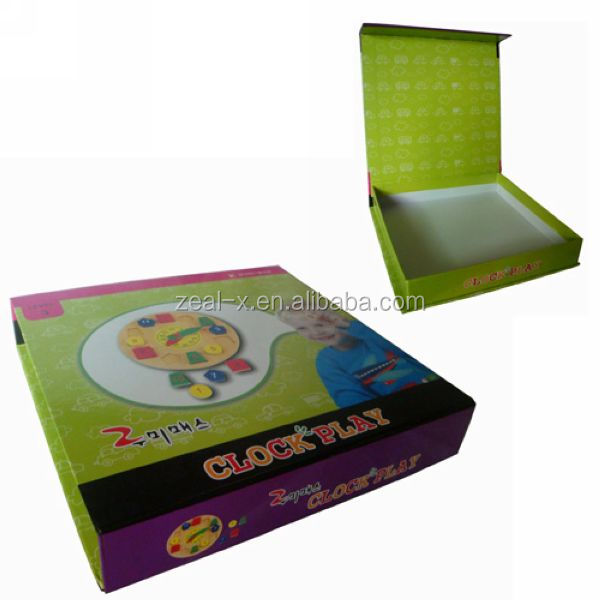 High end green baby cardboard keepsake box wholesale