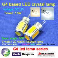 DC12V mini g4 7.5W 550lm LED light bulbs made in China