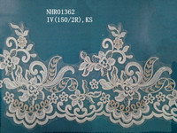 Polish saree lace border design bridal lace trimming for evening dresses