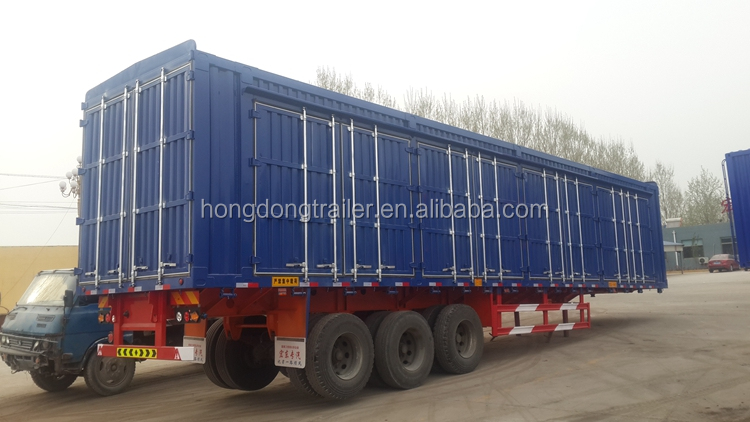 vegetable or food transport truck semi trailer bulk cargo van trailer