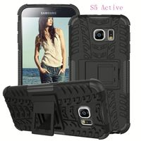 Rugged hard case cover tpu+pc hybrid combo robot case for Samsung Galaxy S5 Active