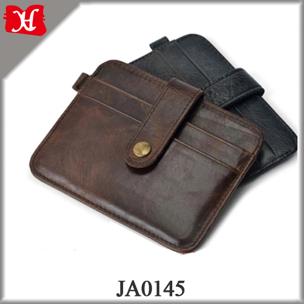 Mini Small Purse 100% Real Genuine Leather Men Wallet