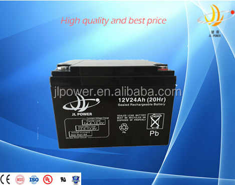Guangzhou factory Lead acid battery supplier Top quality maintenance free ups solar battery 12v 24ah agm battery