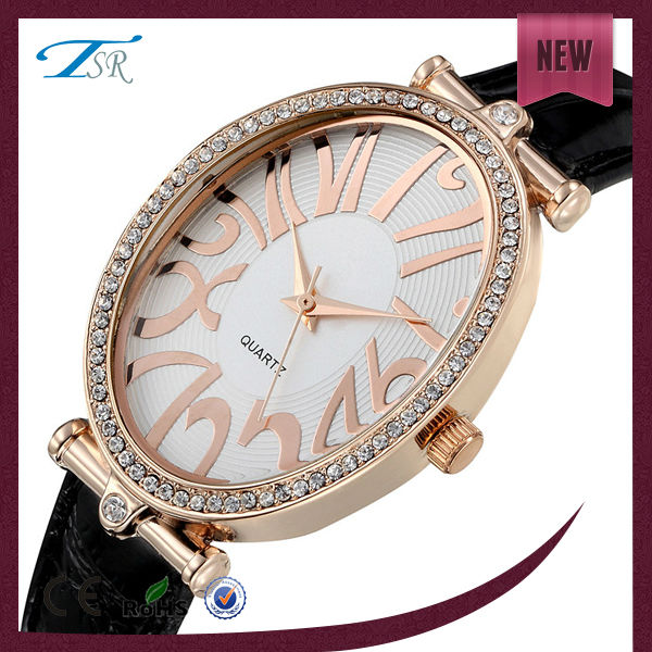 2014 luxury lady watches with gold color for women's day gift ,japan movt quartz watch diamond stainless steel with high quality
