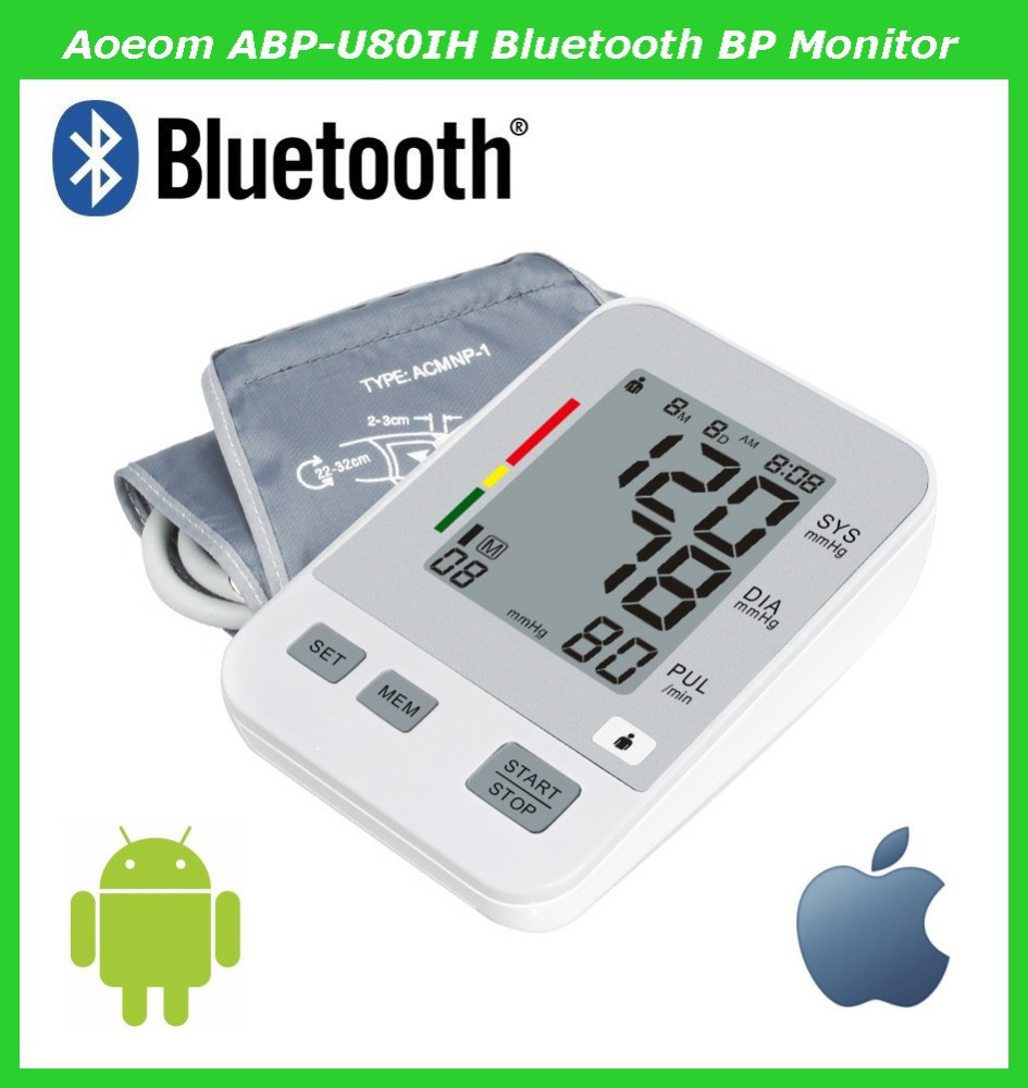 Medical Supplies Blood Pressure Monitor Bluetooth 4.0 Connected to Computer/Smartphone