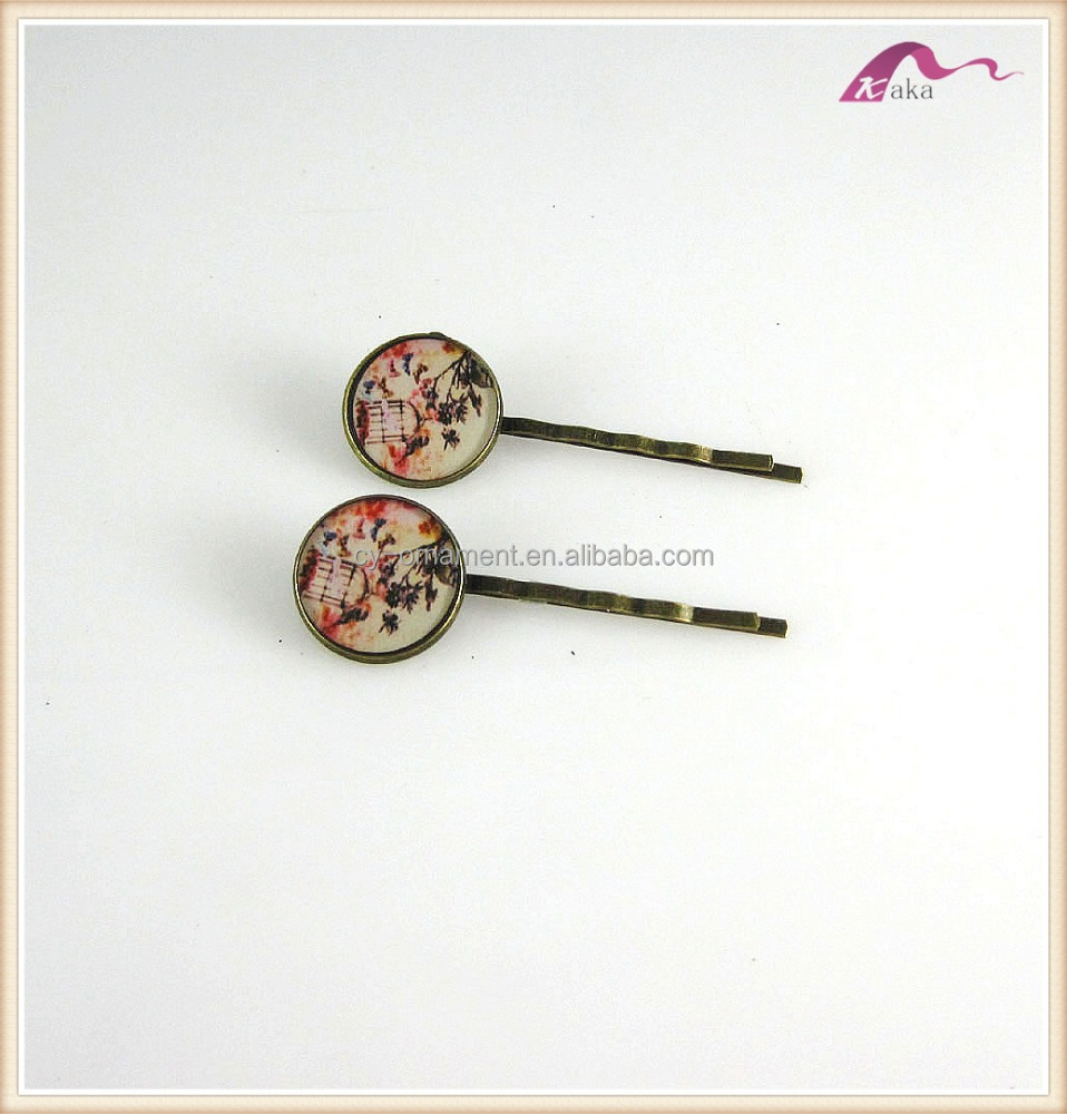 Hot Women Favourite Decorative Bobby Pins With Glue Pad