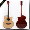 40 inch cutaway linden basswood acoustic guitar factory price FS-4014