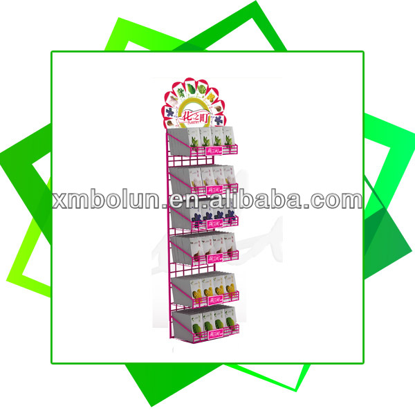 Custom supermarket hanging product rack display for wet wipes