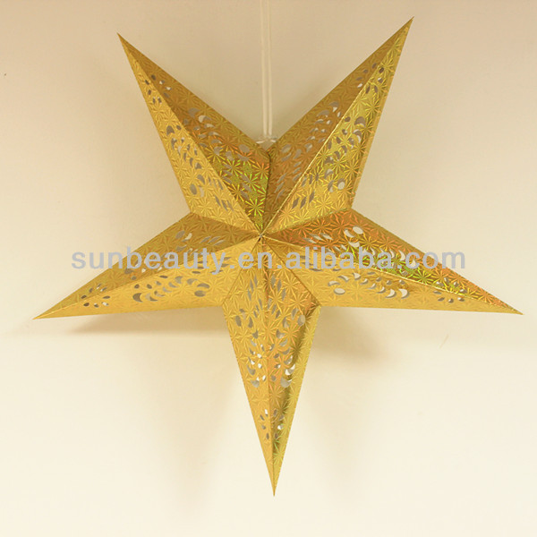 2014 Shinning Paper Star, Christmas Hanging Decorations