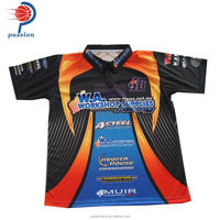 Fully Sublimation Custom Design Factory Price Adult Crew Shirts With Buttons Up