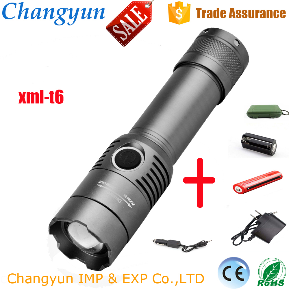 Wholesale zoomable tactical high power 1000 lumen LED flashlight
