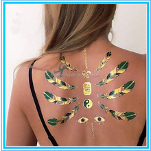 sex metallic temporary tattoo ink/peacock temporary tattoo sticker