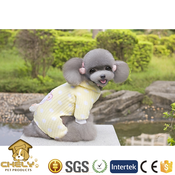 500+ models available pet dog clothes summer style yellow and pink color