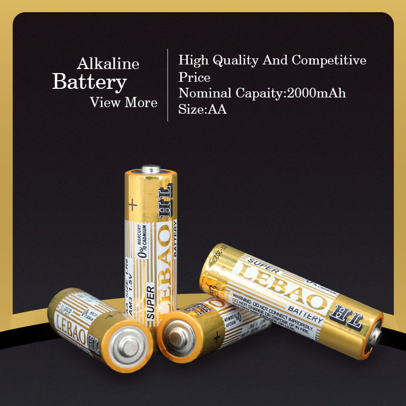 China Wholesale Lower Price Long Service Life Pro-Environment Super Power 1.5V AA LR6 AM3 Alkaline Battery, AA Alkaline Battery