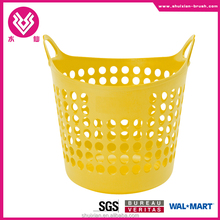 Flexible Plastic Dorm Nesting Storage Laundry Toys Closet Handle Basket Tote Bin red yellow blue green new