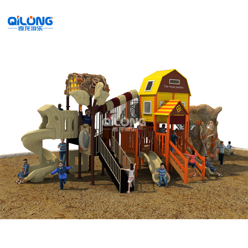 Top Quality Wooden Kids Outdoor Playground, Children Outdoor Playground Equipment