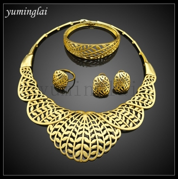 FHK2937 artificial jewelry wholesale pakistan 24k gold jewellery dubai gold plated jewelry sets
