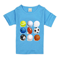 Wholesale casual style good quality funny soccer printing unisex 100% polyester brand children t shirt