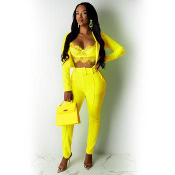 Fashion sexy 2 piece set women clothing suit and pants