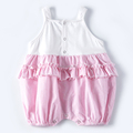 Summer infant jumpsuits sleeveless custom ruffle clothes baby girl romper