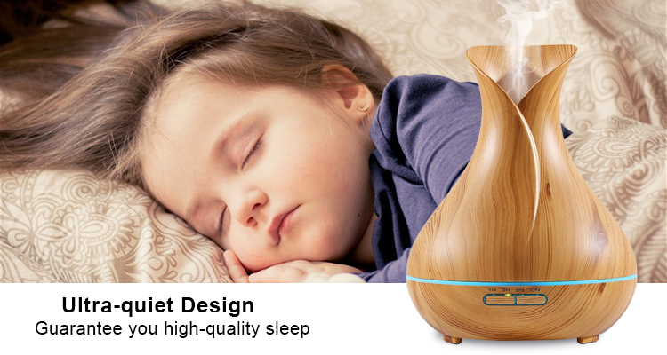 aromatherapy wood grain air humidifier ultrasonic essential oil aroma flower diffuser