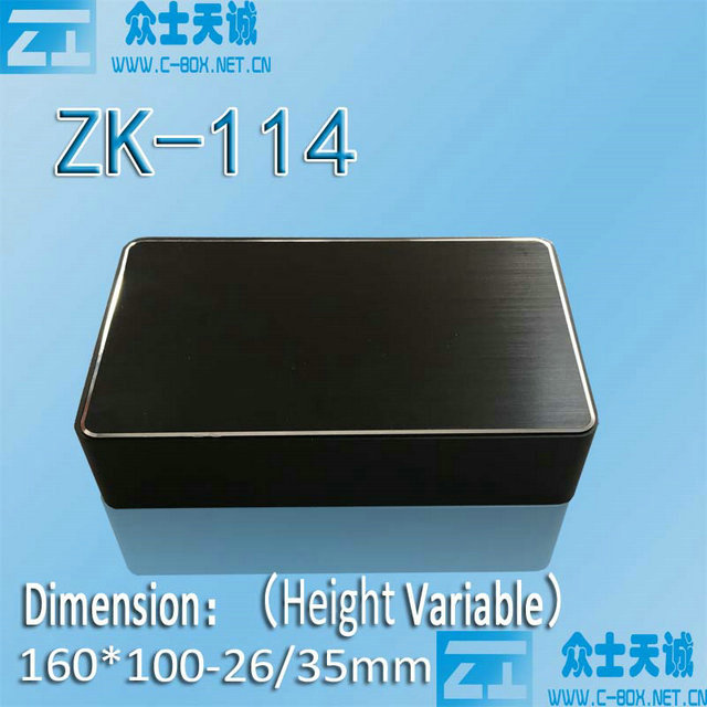 zk-114-2/ 26*160.1*100.1mm square aluminum wifi router enclosure metal box media shell net case