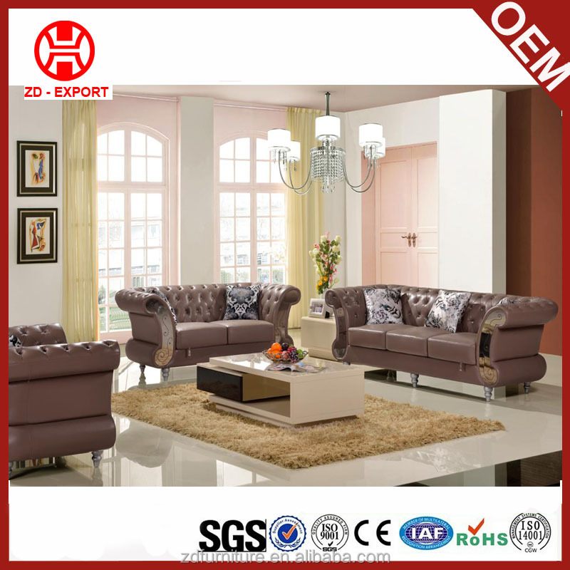 Guangdong used genuine leather sofa set designs and prices MY850