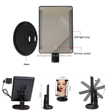 LED lighted Makeup Mirror Foldable Portable Travel Electric Chargeable HD Vanity Mirror with Lights