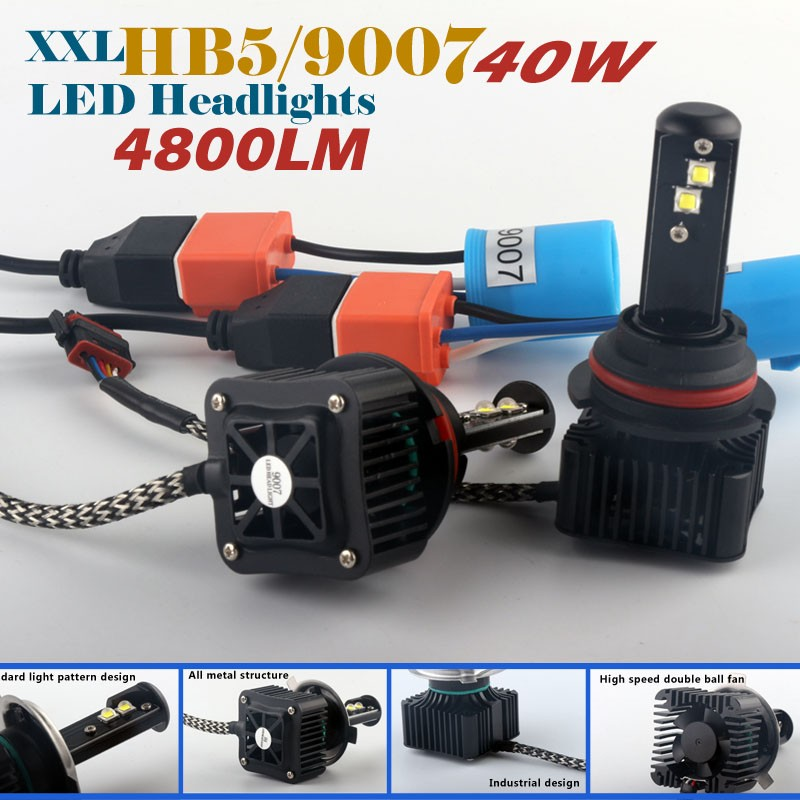IDEA patent LED auto 9007 Hi Lo beam 4800lm car H4 headlights 40w 12v 24v D1R xenon hid