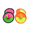 wholesale Toss & Catch 3000 Ball Game with Disc Paddles, 2 Balls (Big and Small) and PVC Carry Bag, Pink and Green